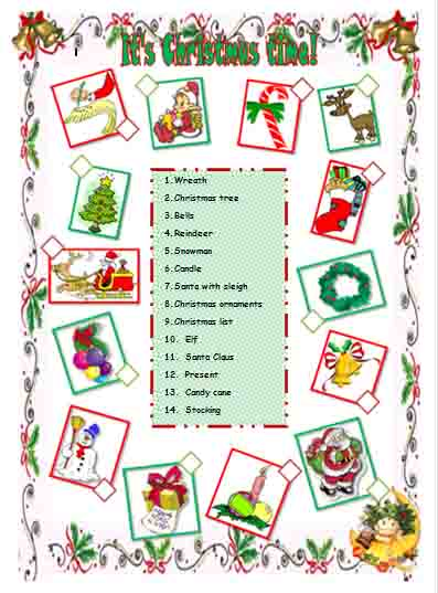 English corner christmas worksheets christmas worksheets ibookread Read Online