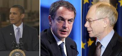 Barack Obama, José Luis Zapatero and Herman van Rompuy