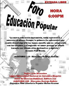 FORO DE EDUCACION POPULAR
