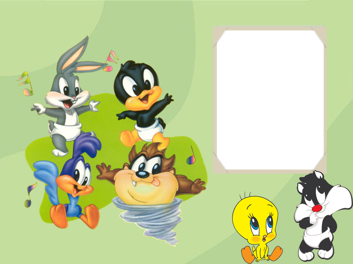 Moldura Psd Baby Looney Tunes Wallpapers Real Madrid Wallpapers