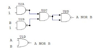 NOR gate with NAND and NOR diagram