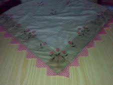 toalha com flores