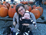 Mommy buys Hope's 1st Pumpkin!