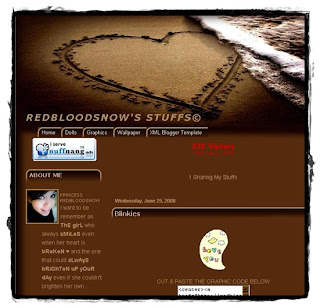 Redbloodsnow Stuffs© - The Place for Beta Blogger Template, Graphics, Wallpapers and Codes