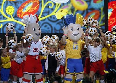 Las mascotas de la Eurocopa 2012