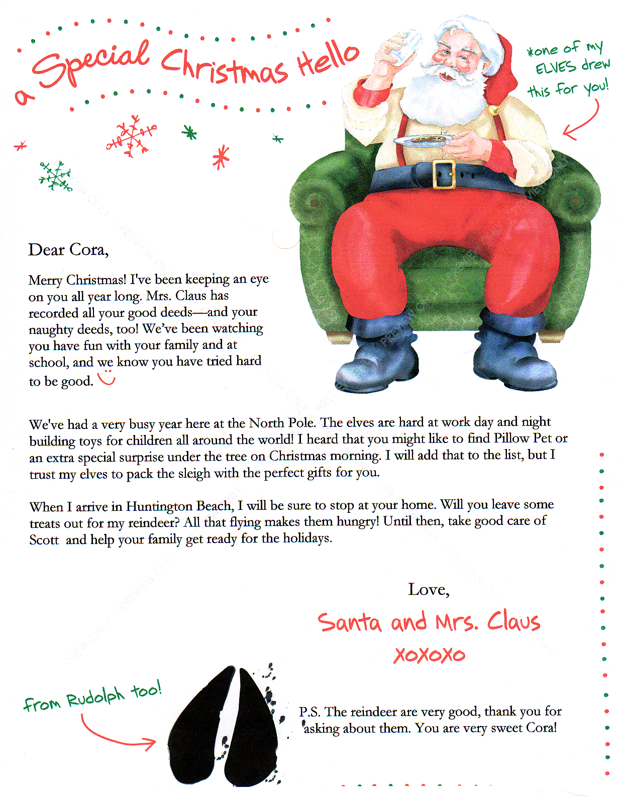 Free Printable Elf On The Shelf Letterhead | Share The Knownledge