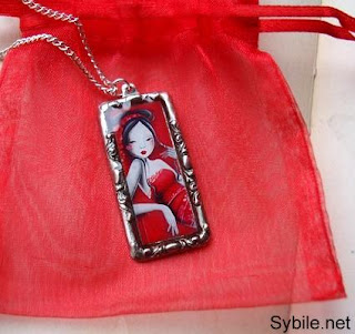 Passion - antique silver pendant