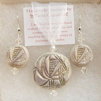 Charles Rennie Mackintosh Style - Pendant and Earring Set