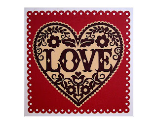 Folk Art Love Card