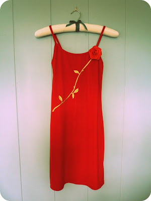 Vintage little red dress
