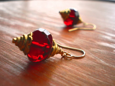 Londonderry Red Lantern Earrings