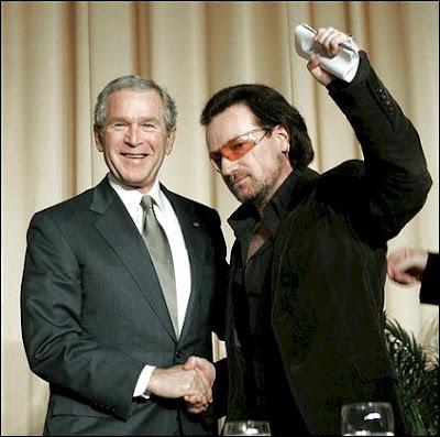 Bono and Bush