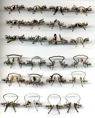 pince nez jewelry fingerpiece hoop spring mountings