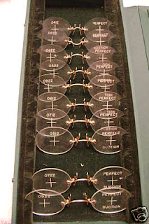 pince nez fitting set salesman case