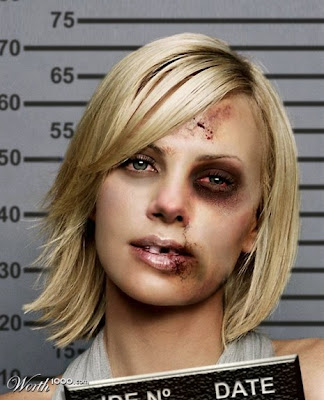 Charlize Theron,Photoshopped Celebrity Mugshots