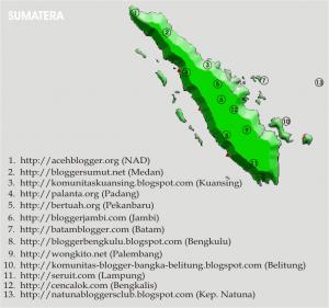 Peta Komunitas Blogger Indonesia