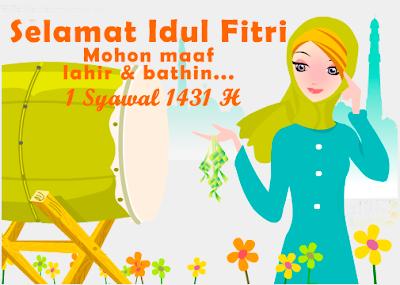 Kartu Ucapan Selamat Idul Fitri 1431H