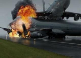 Pesawat Meledak di Bandara Batam