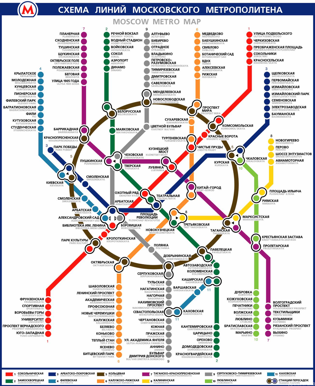 схема метро москвы.метро тульская