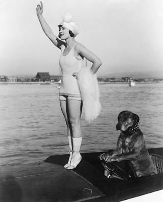 gloria swanson teddy at the throttl Ana Claudia Michels string