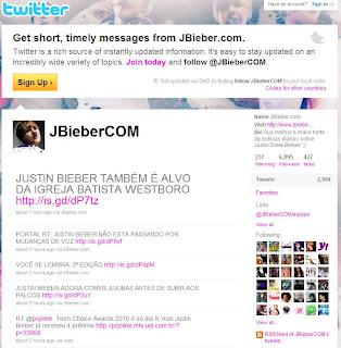Justin Bieber Twitter print