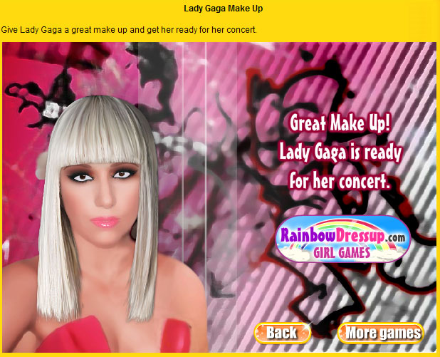 lady gaga make up jogos