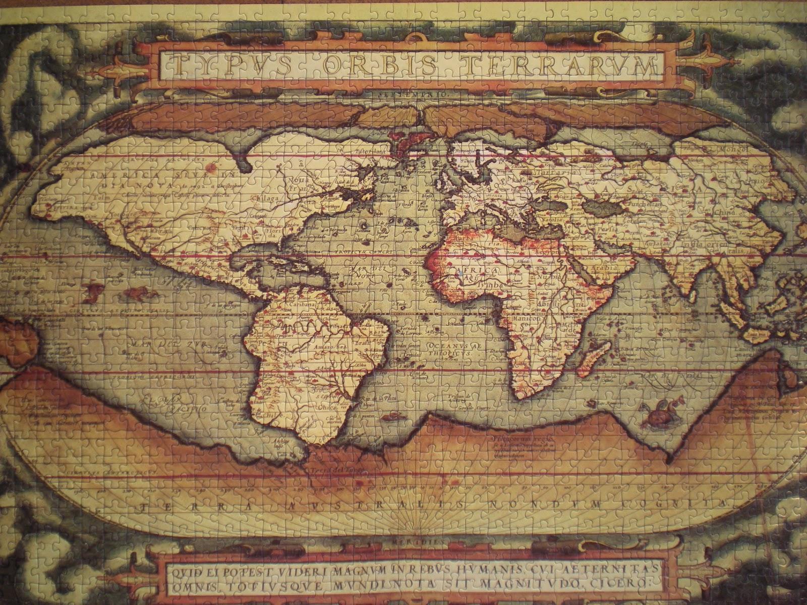 UN MILLN DE PUZZLES Mapamundi antiguo