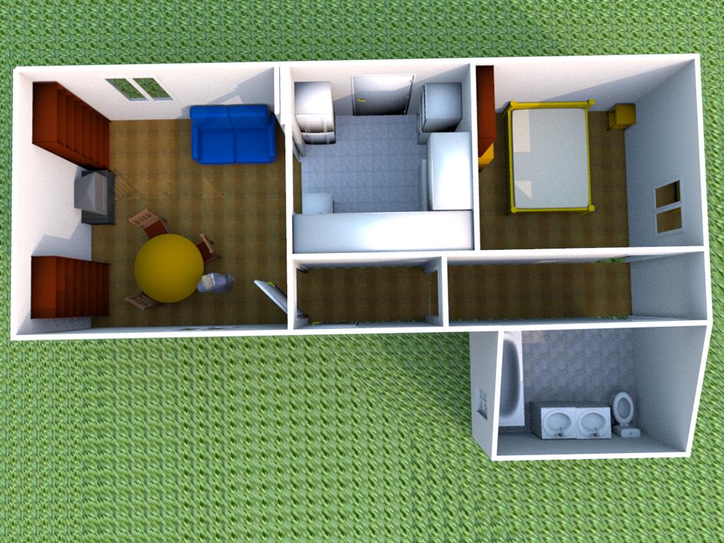 Ma maison dessin 3d for Dessin 3d maison