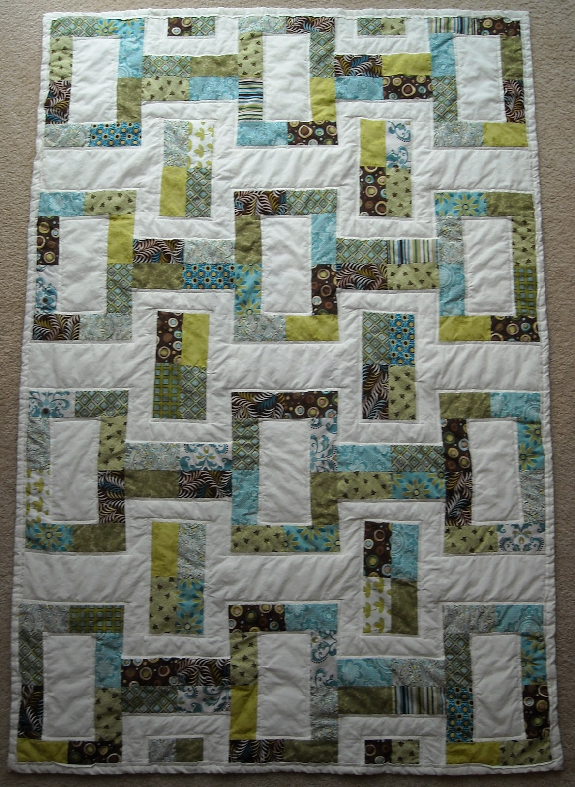 Quilt Patterns Using Moda Jelly Rolls : Crafter without a Cat: Jelly Roll Quilt