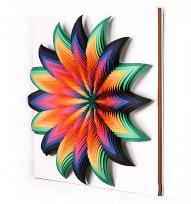 Amazing 3d construction paper sculptures art amazing arts - Colored paper art projects ...