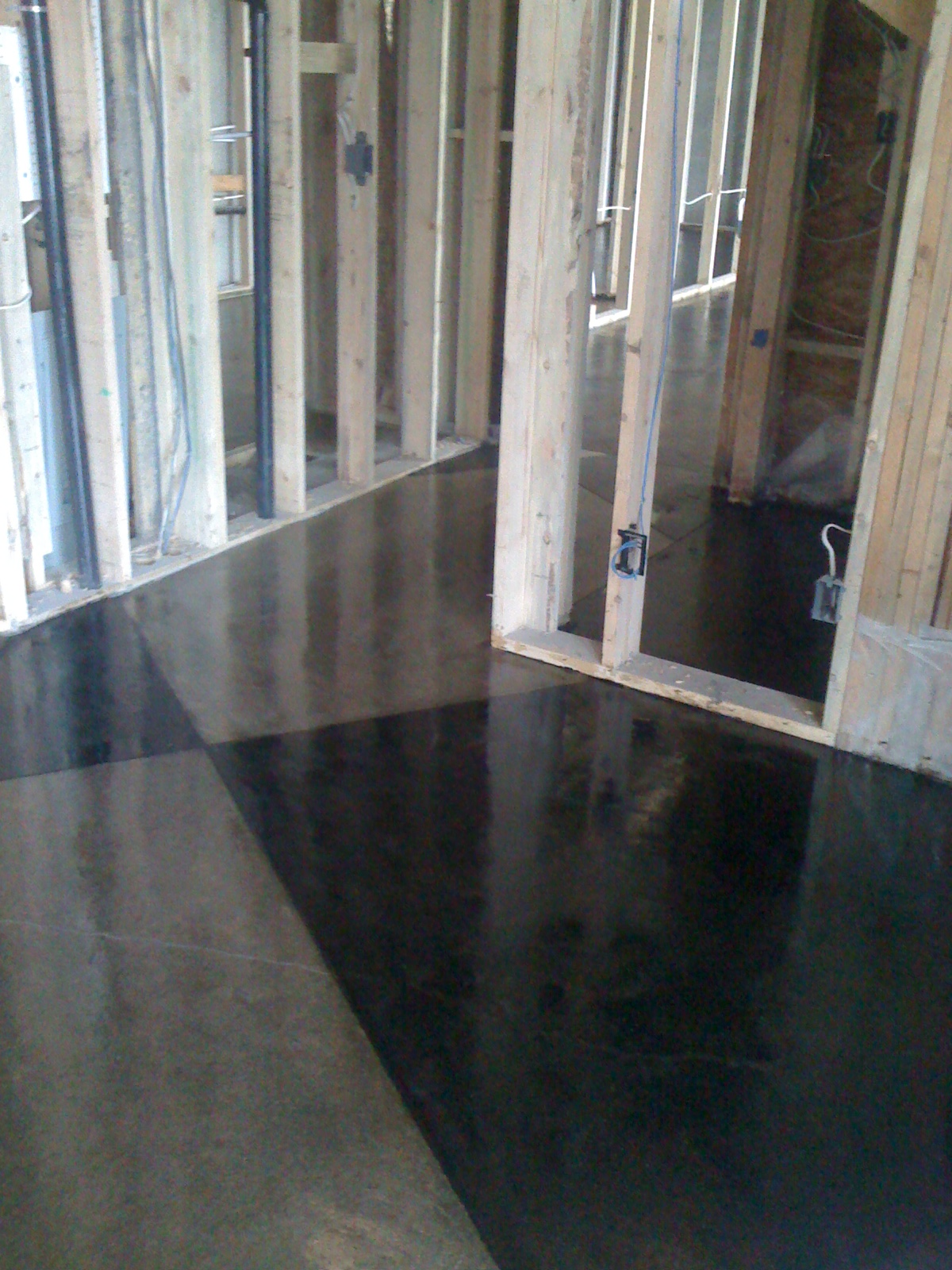 Dark Stained Concrete Floors Viewing Gallery
