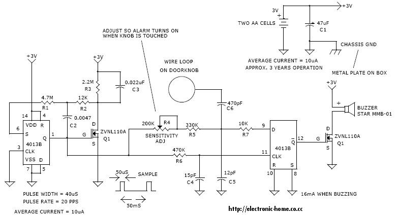 door electronics and engineering lab july 2010 electronics and arrowhead alarms wiring diagram at bakdesigns.co