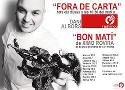 """""""FORA DE CARTA"""" espacio gastronómico en """"RADIO 9"""""""
