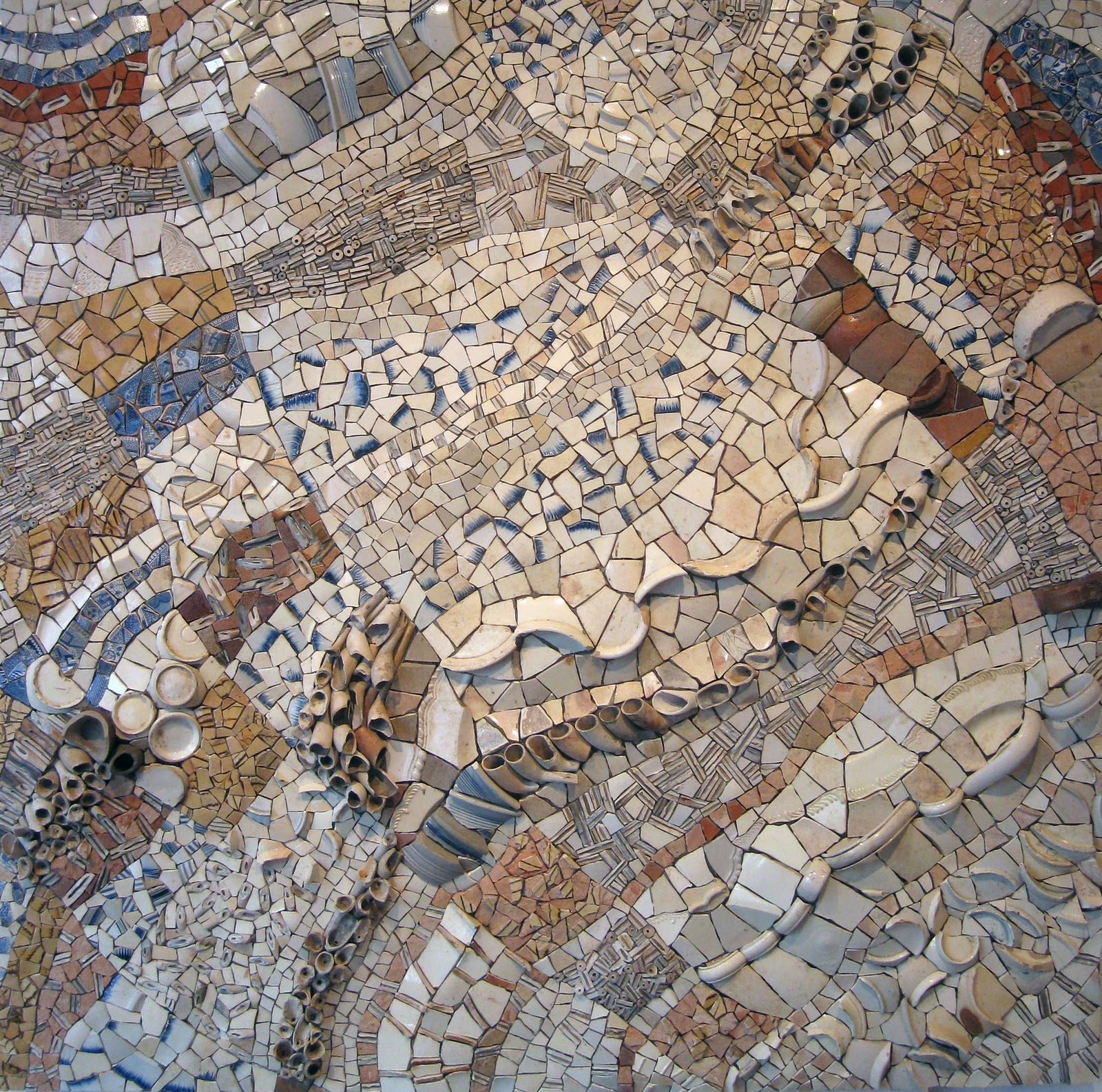 Mosaic art now mudlark superb new work by biggs collings for Mosaic painting meaning