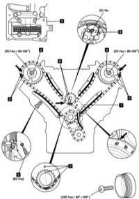 mercedes spare parts replacement of chains of drive gear mercedes benz viano cdi timing marks diagram for 390 engine timing marks #11