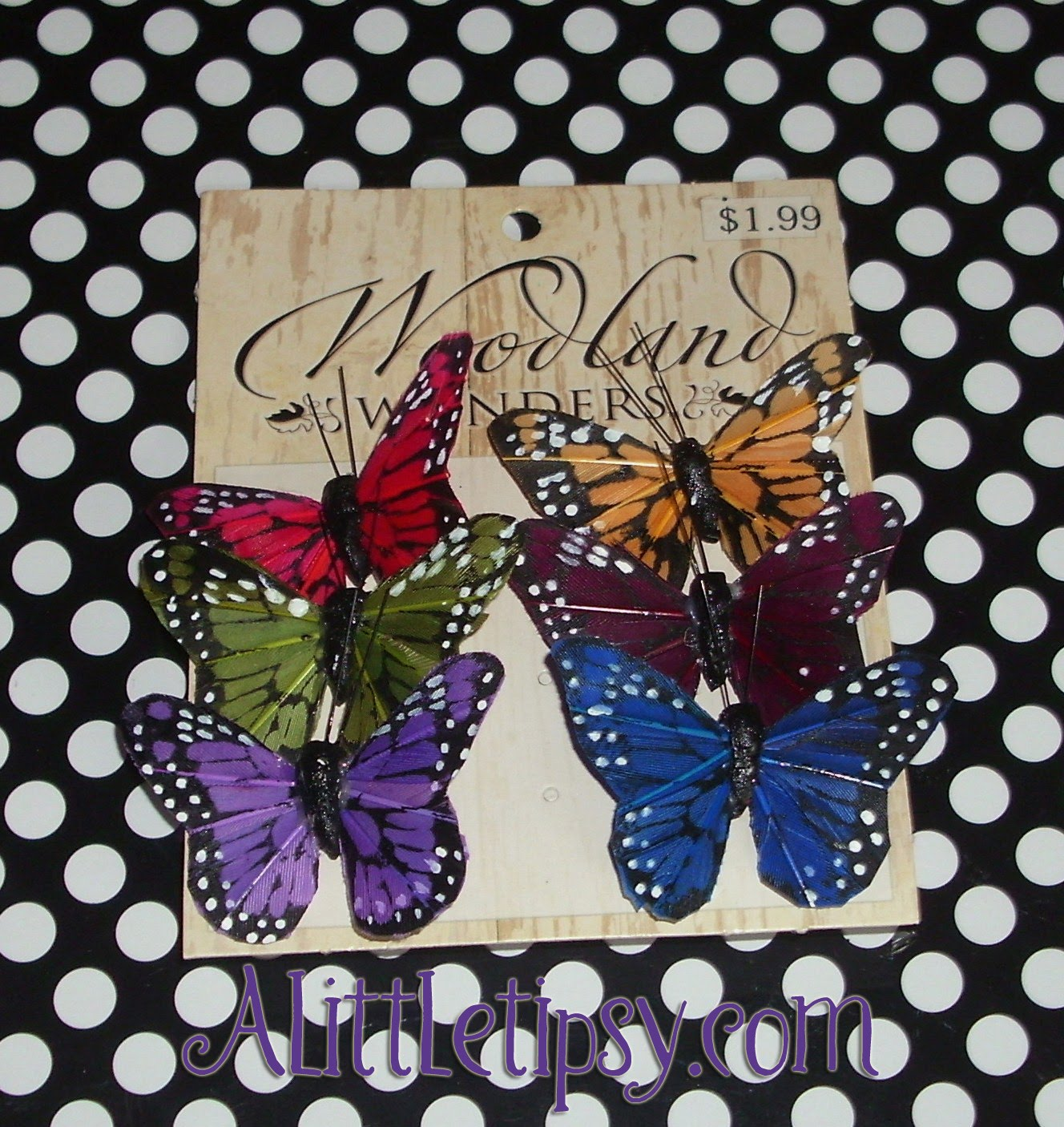 Diy interchangeable butterfly headband a little tipsy for Black headbands dollar tree