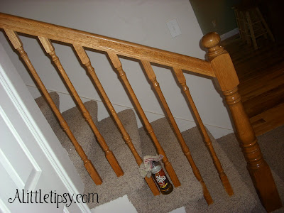 Renew an old wood banister a little tipsy Restoring old wooden furniture