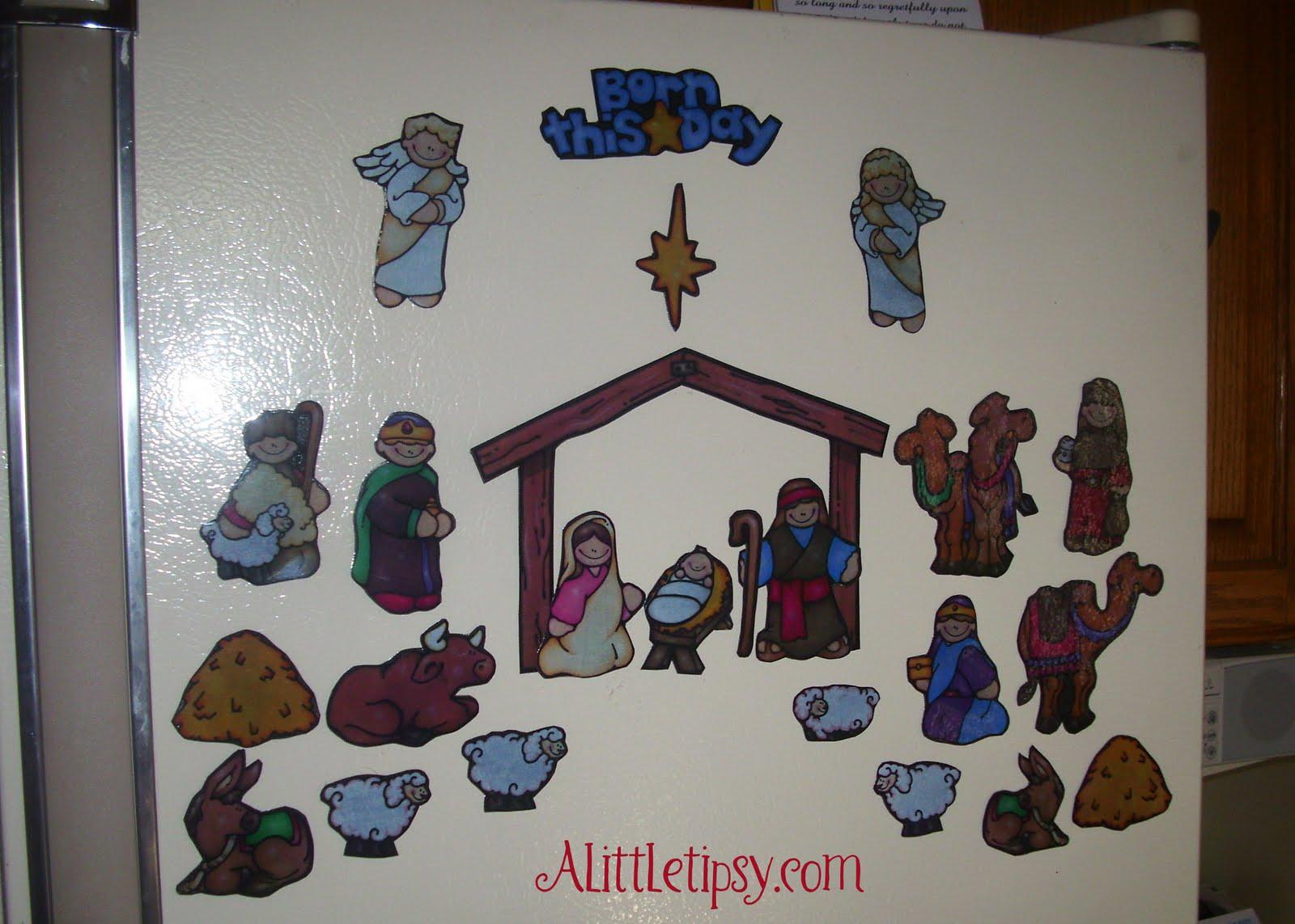 Diy Advent Calendar Nativity : Nativity advent a little tipsy