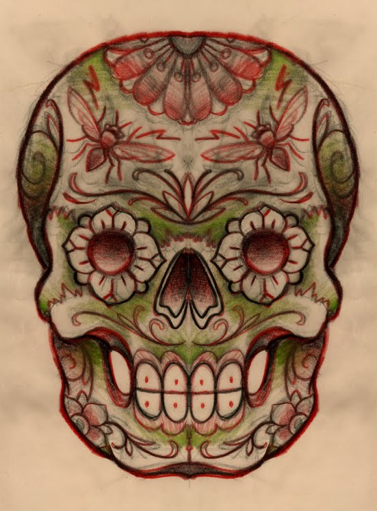 Mexican Skull Tattoo Design Picture 3