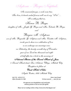 Bryan karen nuptials the wedding invitation the design is already finalized stopboris Images