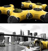 * Parque flutuante futurístico