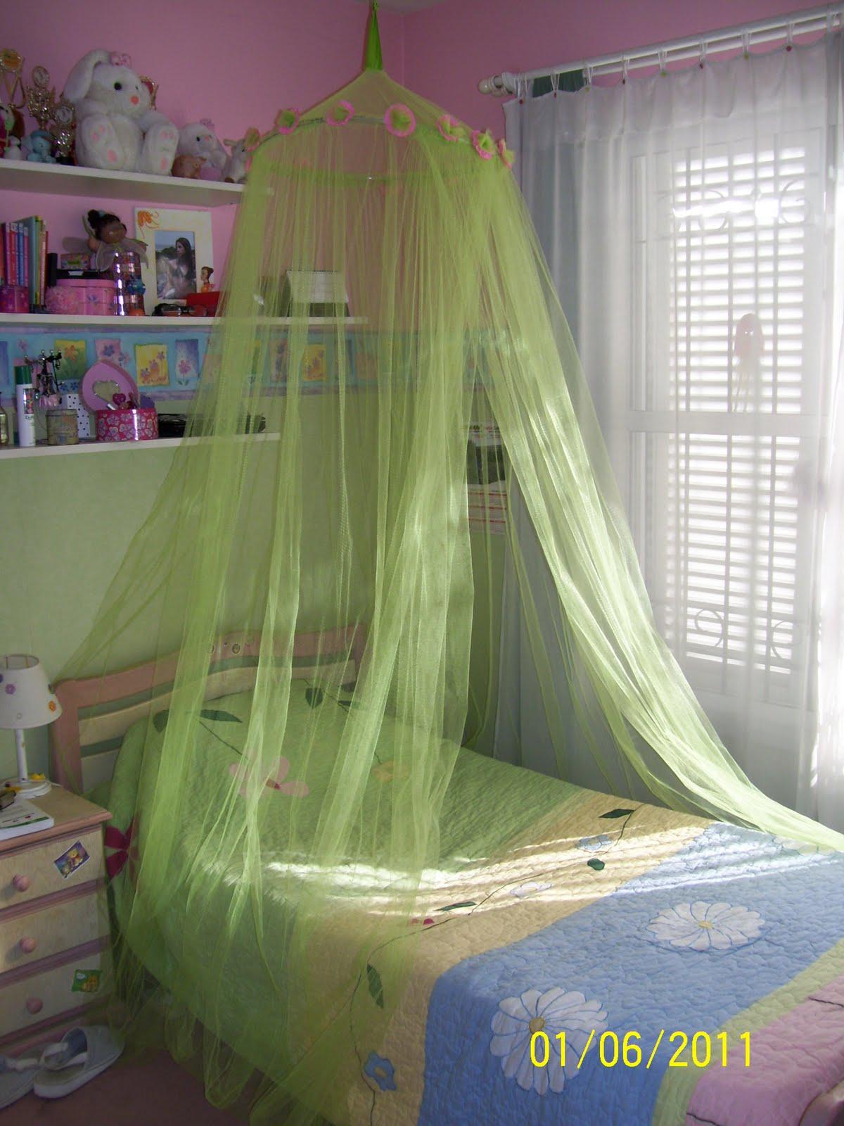 A toda tela tul para cama for Mosquiteras para camas