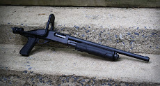 The Knoxx folding stock on a Remington 870