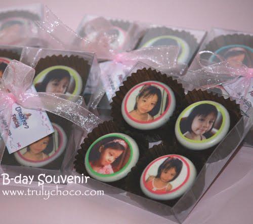 Coklat lollipop edible, coklat foto 4pcs dalam 1 pack