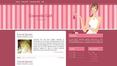 30 Amazing Girly Blogger Templates