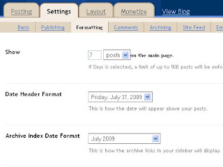 Undefined Date For BLogger Blog