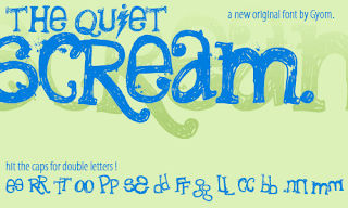 Hand Drawn Fonts-The Quiet Scream