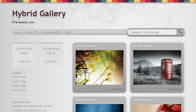 best blogger templates-Hybrid Gallery