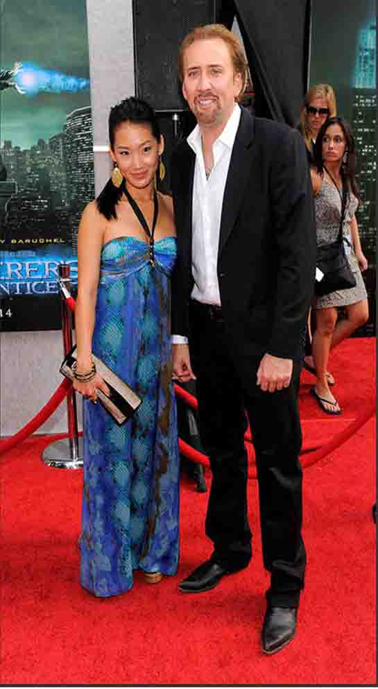 nicolas cage wife. nicolas cage and wife.