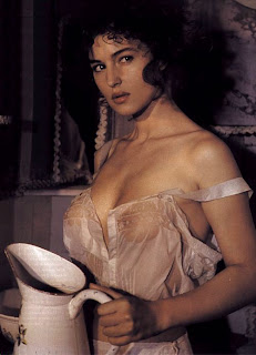 monica bellucci in wet shirt exposing breasts